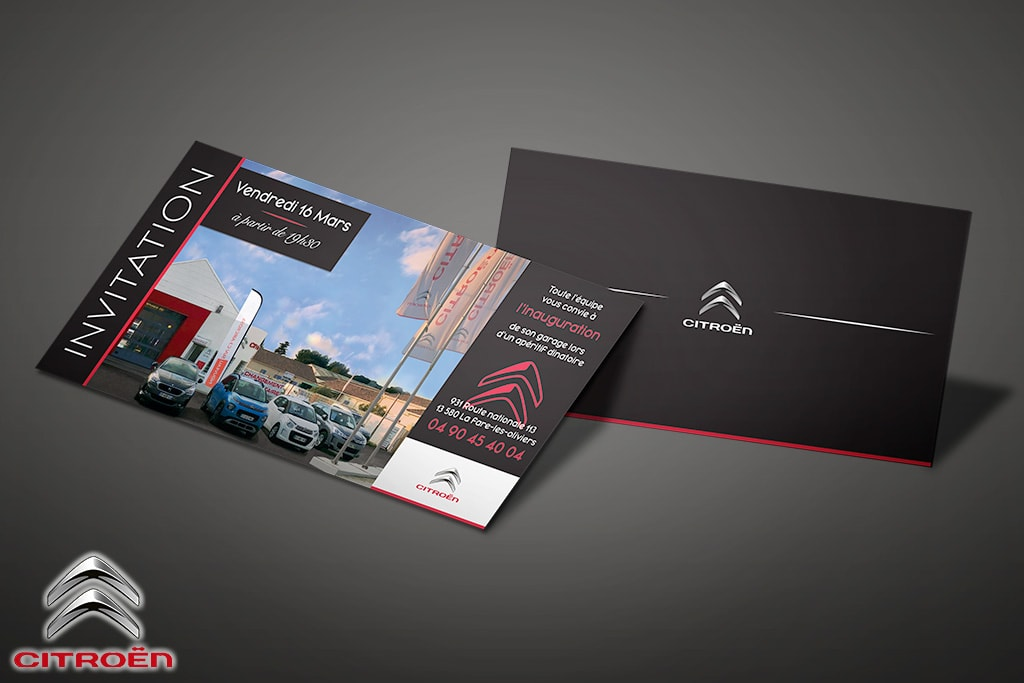 carton invitation inauguration citroen