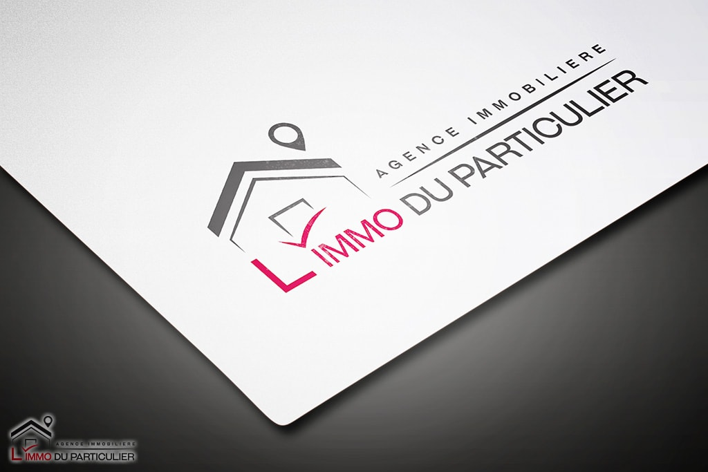 logo agence immobiliere immo du particulier